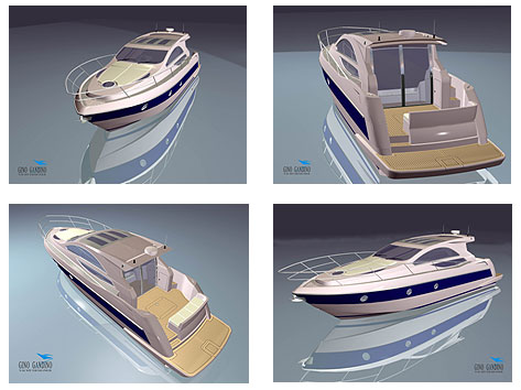 Zhuhai 40' Express Cruiser Sample Renderings
